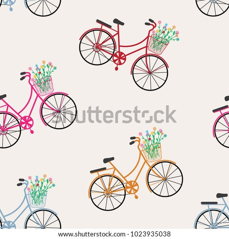 seamless pattern bicycles