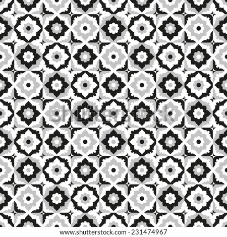 seamless pattern black and...