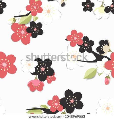 seamless pattern  black  pink