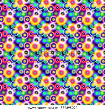 seamless pattern bokeh  bright