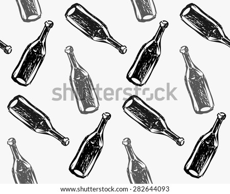 seamless pattern bottles of