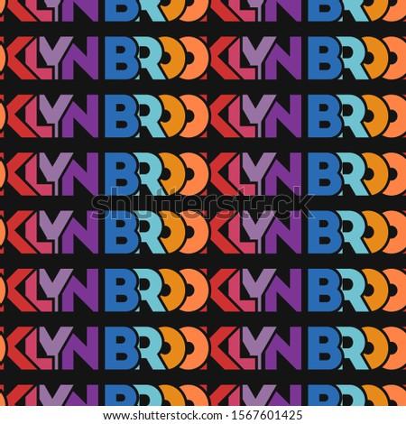 seamless pattern brooklyn