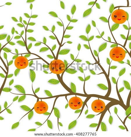 seamless pattern brown branches