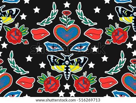 seamless pattern butterfly