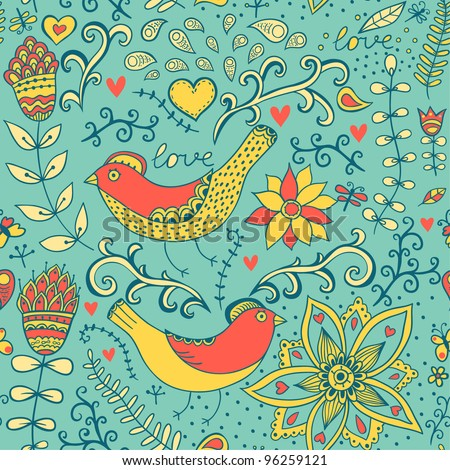 Seamless pattern can be used for wallpaper, pattern fills, web page background,surface textures. Gorgeous seamless floral background