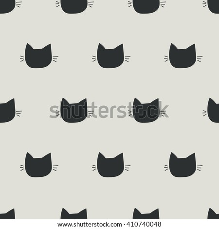 seamless pattern, cat art  background design for fabric and decor