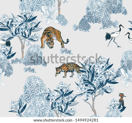 seamless pattern chinoiserie