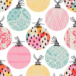 Seamless pattern. Christmas Decor. Can be used as background, packaging paper, cover, fabric and etc.