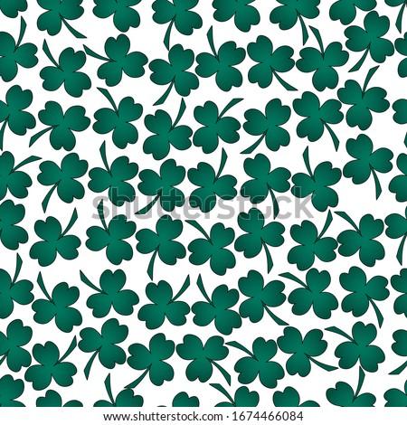 seamless pattern clover leaf