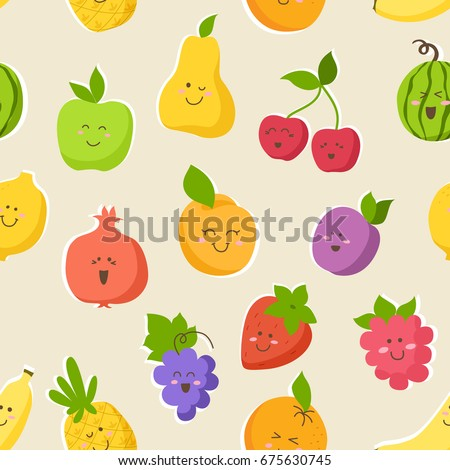 seamless pattern colorful cute