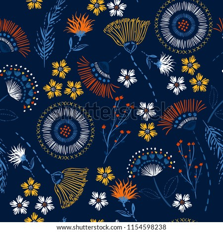 seamless pattern colorful hand
