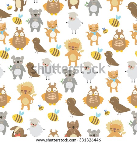 Picture From Words Bee Cat Dog Owl