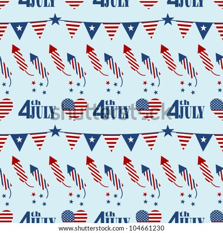 Seamless pattern design for Independence Day.