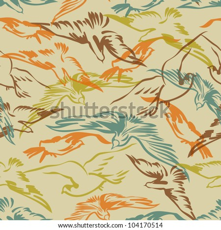 Seamless pattern design with birds