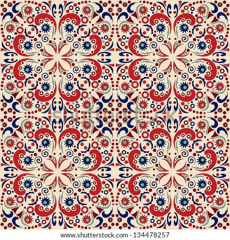 seamless pattern: detailed vector persian carpet