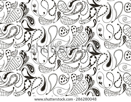 Flower Doodle Pattern Download Free Vector Art Stock Graphics Inspiration Doodle Patterns