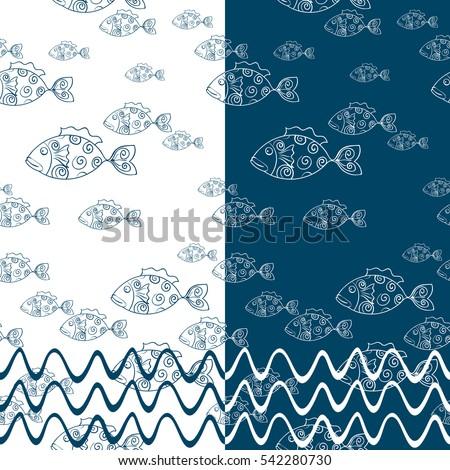 seamless pattern fabulous fish