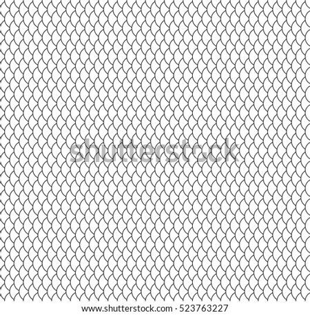 Seamless pattern. Fish scale