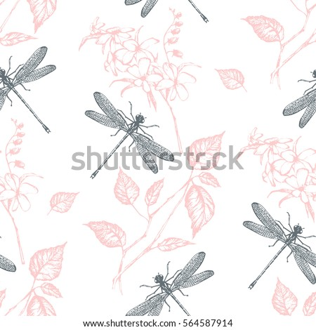 seamless pattern  flowers and