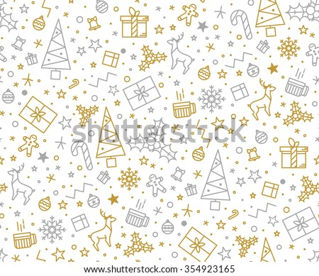 stock-vector-seamless-pattern-for-christmas-on-a-white-background-with-gold-elements-christmas-beautiful