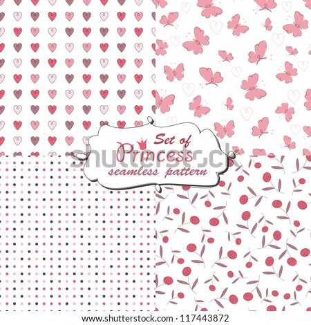 seamless pattern for little