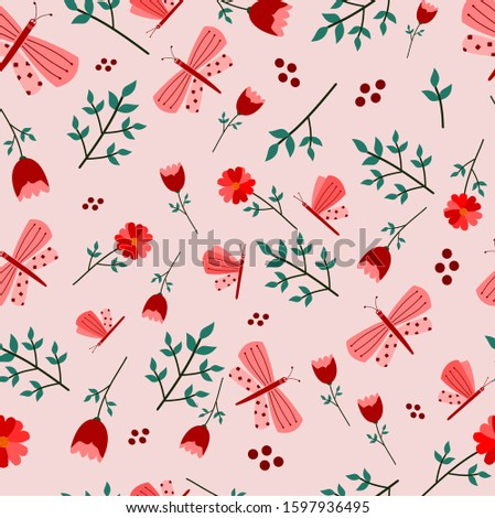 seamless pattern for spring or