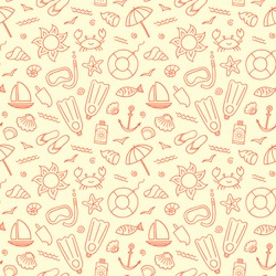 Seamless pattern for summer.