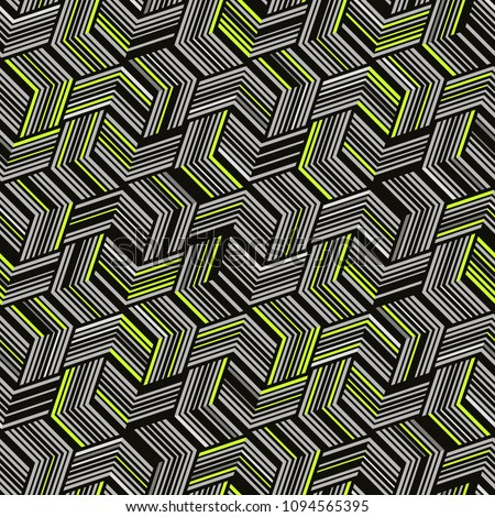 Seamless pattern for textiles and packaging. Abstract geometric pattern.