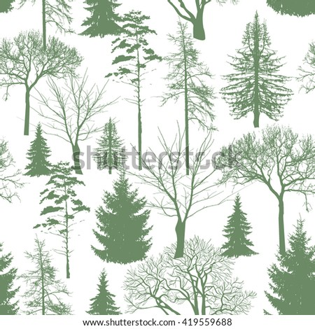 seamless pattern forest