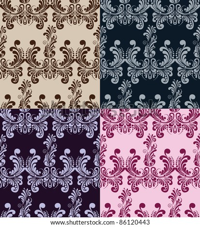 seamless pattern. four variants