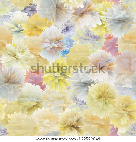 Seamless pattern from abstract flowers - vector texture