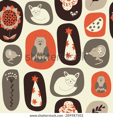 seamless pattern from hand