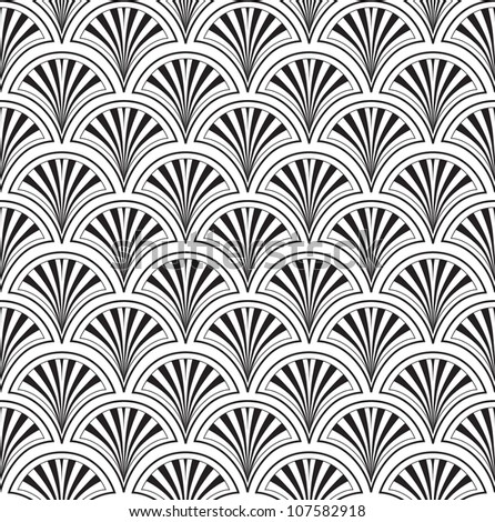 seamless pattern from lines, floral theme