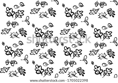 seamless pattern from oak and