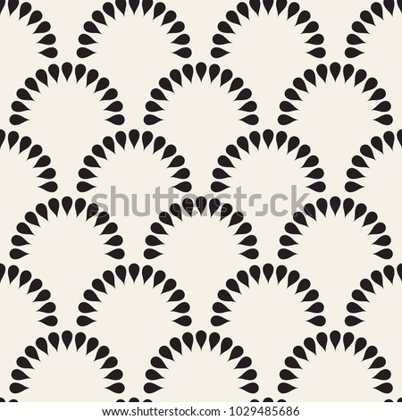 Seamless pattern. Geometric floral background. Vector repeating texture.