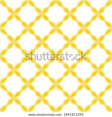 Seamless pattern. Geometric orange background. Unusual lattice.