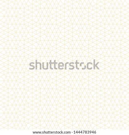 Seamless pattern. Geometrical linear texture. Repeating thin broken lines, polygons, hexagons, difficult polygonal shapes. Original geometrical puzzle. Backdrop. Web. Vector element of graphic design