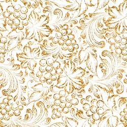 Seamless pattern gold grapes four vine background. Vector illustration
