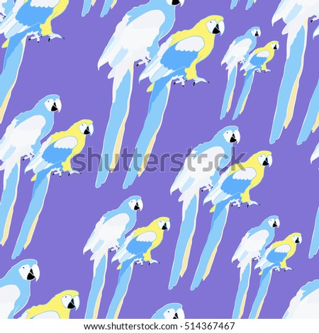 seamless pattern  gold parrot