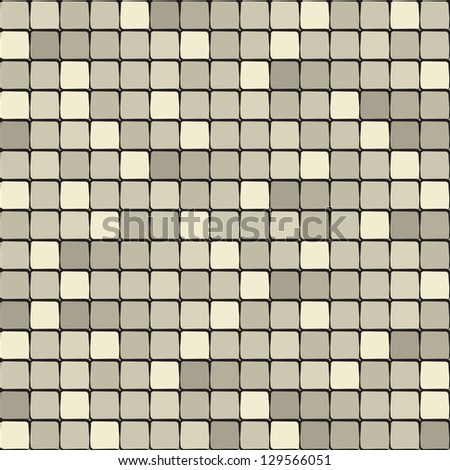 Seamless pattern. Golden texture. Luxury background with squares. Iridescent tiles