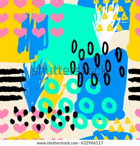 seamless pattern hand drawing