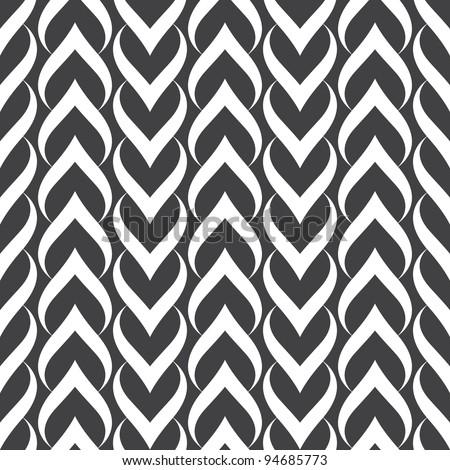 Seamless pattern. Hearts.