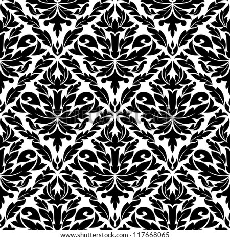 Seamless pattern in damask style for background design. Jpeg version also available in gallery