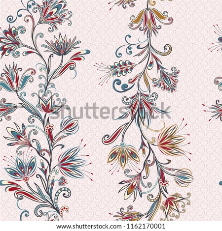 seamless pattern in ethnic