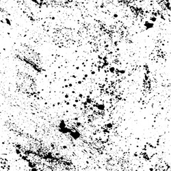 Seamless pattern in grunge style. Ink splashes. Black and white spray texture.