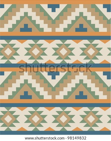 Seamless pattern in navajo style