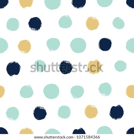 stock-vector-seamless-pattern-in-polka-dots-in-blue-green-and-gold-tones-dry-brush