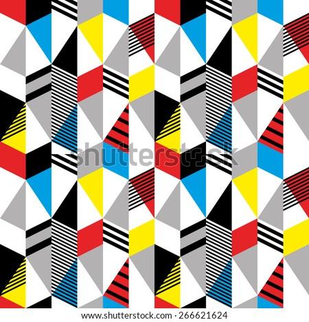 seamless pattern in retro