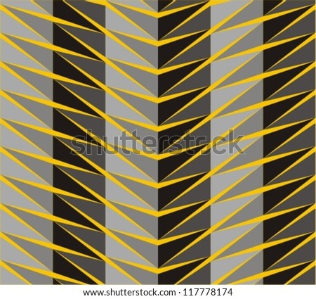Seamless pattern in zigzag with line black and yellow