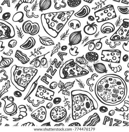 Pizza Pattern Vector Download Free Vector Art Stock Graphics Images